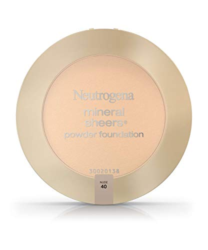 Neutrogena Mineral Sheers Powder Foundation, Nude 40, 0.34 Ounce