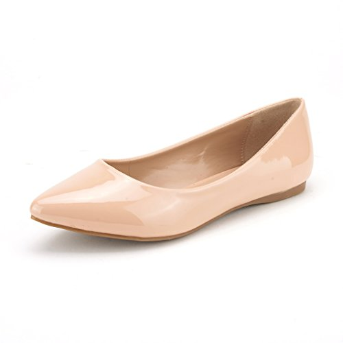 DREAM PAIRS Sole Classic Fancy Women's Casual Pointed Toe Ballet Comfort Soft Slip On Flats Shoes