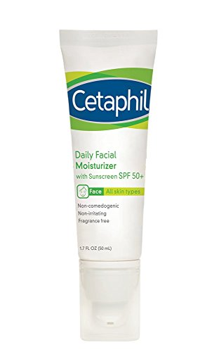 Cetaphil Daily Facial Moisturizer with Sunscreen, SPF 50+ , Fragrance Free, 3.4 Fl Oz (Pack Of 2)