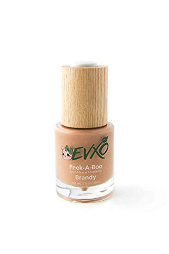 EVXO Organic Liquid Mineral Foundation - Vegan, All Natural, Gluten Free, Aloe Based, Buildable Coverage, Cruelty Free Foundation Makeup - 1 Fl Oz (Alabaster)