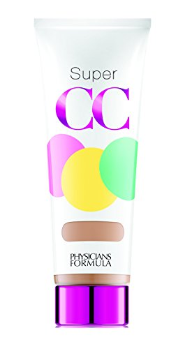 Physicians Formula Super CC Color-Correction + Care CC Cream, Light, 1.2 Ounces, SPF 30