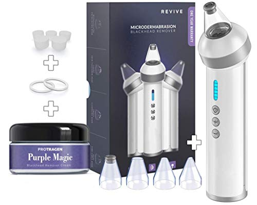 The Original Blackhead Remover Vacuum - Protragen Facial Pore Cleanser Electric Acne Comedone Extractor Kit USB Rechargeable Blackhead Suction Tool with LED Display for Facial Skin (White)