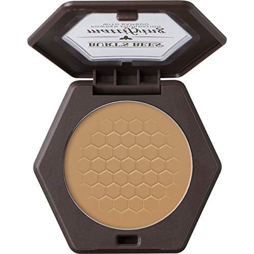 Burt's Bees 100% Natural Origin Mattifying Powder Foundation, Almond - 0.3 Ounce