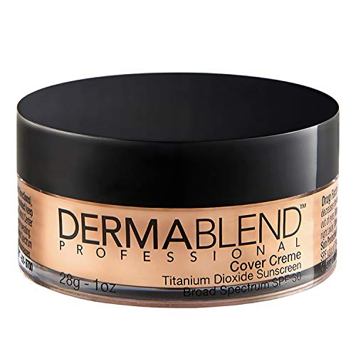 Dermablend Cover Creme High Coverage Foundation with SPF 30, 20W Almond Beige, 1 Oz.