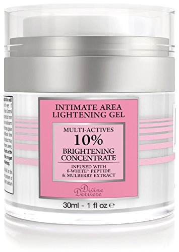 Divine Derriere Intimate Skin Lightening Gel for Body, Face, Bikini and Sensitive Areas - Skin Bleaching Cream Contains Mulberry Extract, Arbutin, Skin Lightening Peptide 30ml / 1 oz.