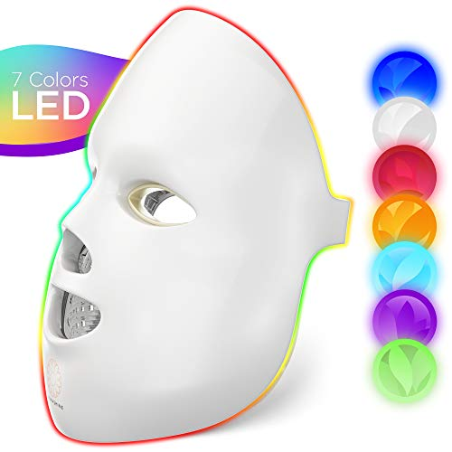 Dermashine Pro 7 Color LED Mask for Face | Photon Red Light For Healthy Skin Rejuvenation Therapy | Collagen, Anti Aging, Wrinkles, Scarring | Korean Skin Care, Facial Skin Care Mask, LED Face Mask