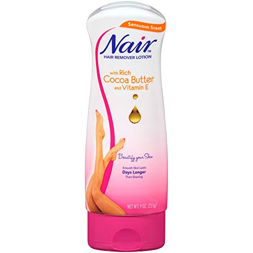 Nair Hair Remover Cocoa Butter Hair Removal Lotion, 9.0 oz. (Pack of 3)