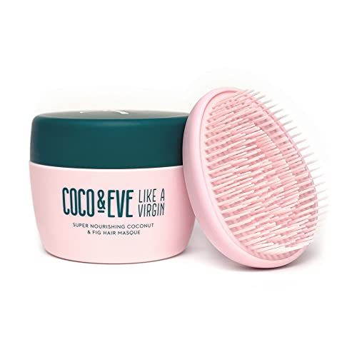 Coco & Eve Like a Virgin Hair Masque - Coconut & Fig Hair Mask for Dry Damaged hair with Shea Butter & Argan Oil for Hair Repair & Hydration | Deep Conditioning Mask Hair Treatment