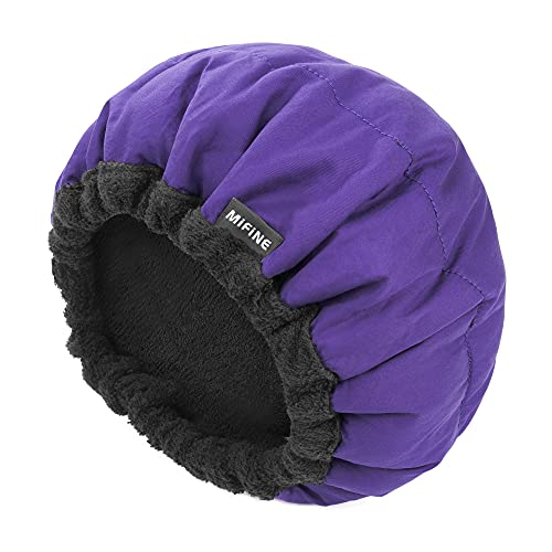 Deep Conditioning Heat cap, Hair Cap for Cordless Hot Deep Steaming Conditioning, 100% Natural Cotton Cap, Hairs Therapy, Microwavable Heat Cap for Steam Hair (Purple)