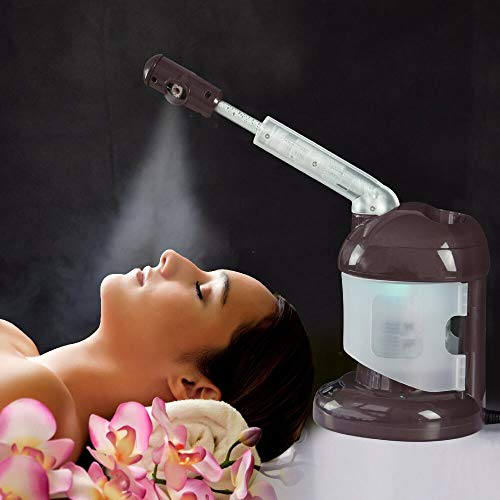 Facial Steamer with Extendable Arm, Ozone Table Top Mini Spa Face Steamer Design For Personal Care Home Use, Coffee …