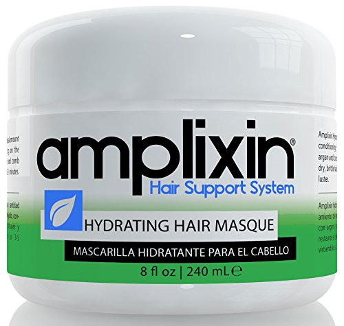 Amplixin Hydrating Hair Mask - Deep Conditioner Hair Treatment With Coconut & Argan Oil - Sulfate Free Hair Repair Conditioner For Men & Women With Dry, Damaged Hair, 8Oz