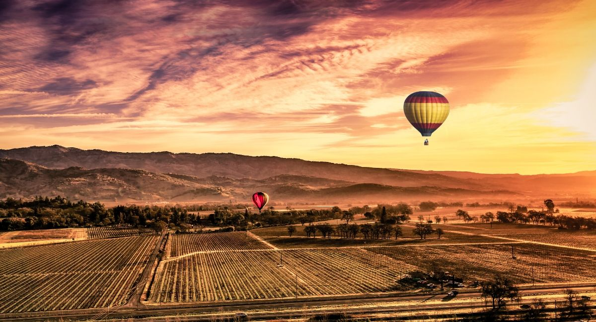 Things to do in Napa Valley - ballons
